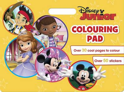 Disney Junior Colouring Pad: Over 30 cool pages to colour. Over 50 stickers. (Paperback)