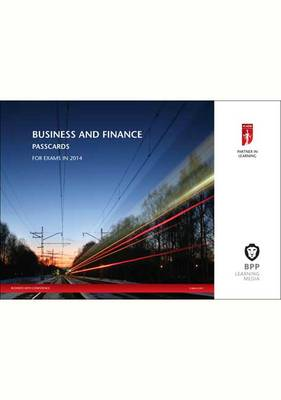 ICAEW Business and Finance 2014: Passcards (Spiral bound)