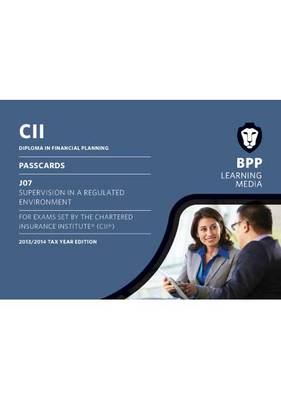 CII J07 Supervision in a Regulated Market: Passcards (Spiral bound)