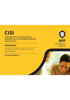 IOC Introduction to Securities and Investment Syllabus Version 14: Syllabus version 14: Passcards (Spiral bound)