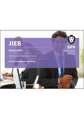 JIEB Personal Insolvency: Passcards (Spiral bound)