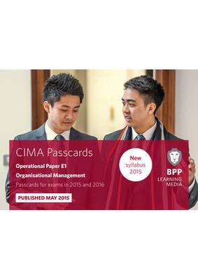 CIMA E1 Organisational Management: Passcards (Spiral bound)