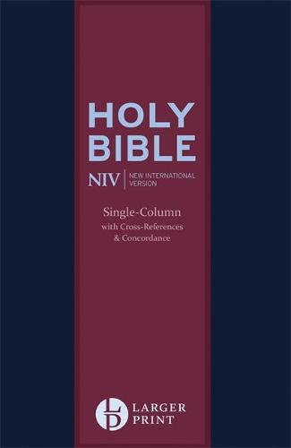 NIV Larger Print Compact Single Column Reference Bible: Leather - New International Version (Paperback)