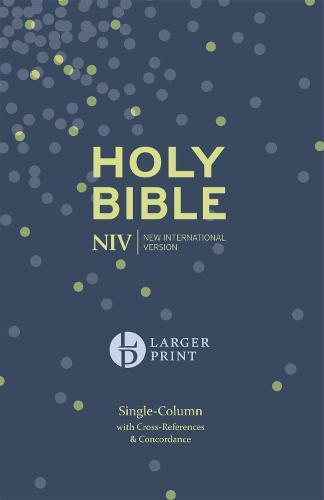 NIV Larger Print Compact Single Column Reference Bible: Hardback - Larger Print (Hardback)