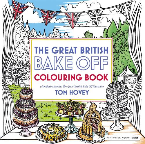 Great British Bake Off Colouring Book With Illustrations From The Series Paperback