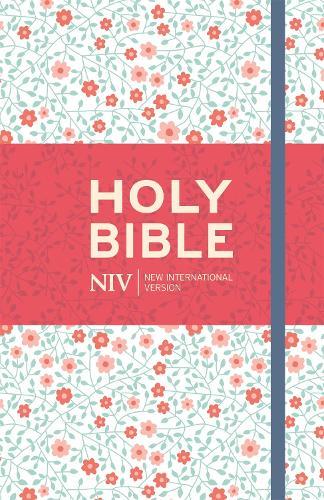 NIV Thinline Floral Cloth Bible - New International Version (Hardback)