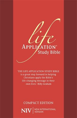 NIV Compact Life Application Study Bible (Anglicised): Red Soft-tone - New International Version (Paperback)