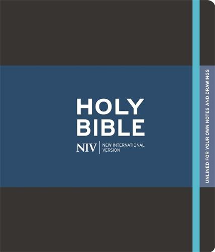 NIV Black Journalling Bible with Unlined Margins - New International Version (Hardback)