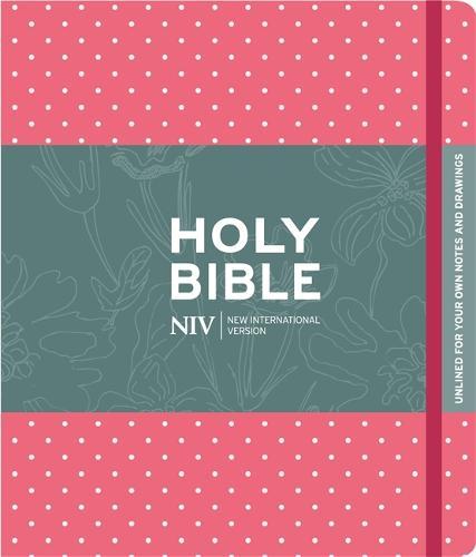 NIV Pink Polka Dot Journalling Bible with Unlined Margins - New International Version (Hardback)