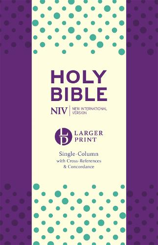 NIV Larger Print Compact Single Column Reference Bible: Purple Soft-tone - New International Version (Paperback)