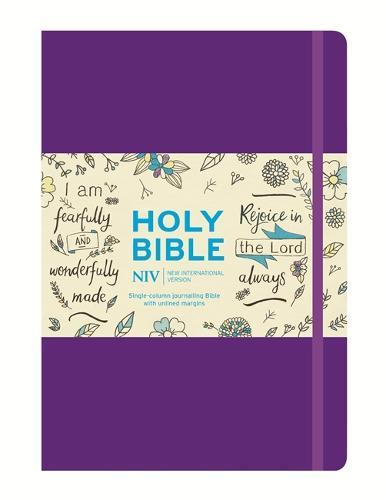 NIV Purple Single-Column Journalling Bible (Hardback)