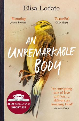 Cover of the book, An Unremarkable Body: A stunning literary debut with a twist.