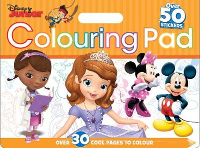 Disney Junior Colouring Pad: Over 30 cool pages to colour (Paperback)
