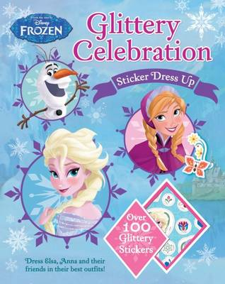 Disney Frozen Glittering Sticker Dress Up (Paperback)