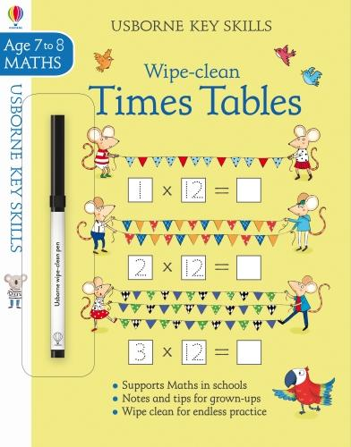 Wipe-Clean Times Tables 7-8 - Key Skills (Paperback)
