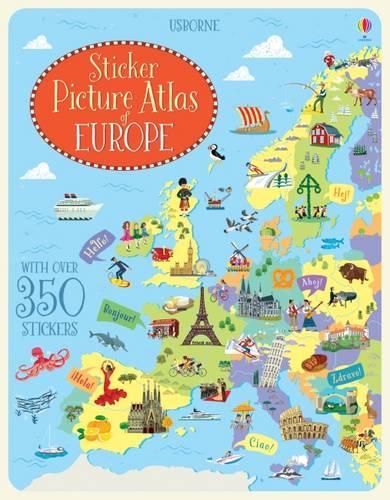 Sticker Picture Atlas of Europe - Sticker Picture Atlas (Paperback)