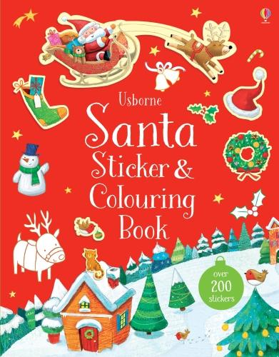 Santa Sticker and Colouring Book (Paperback)