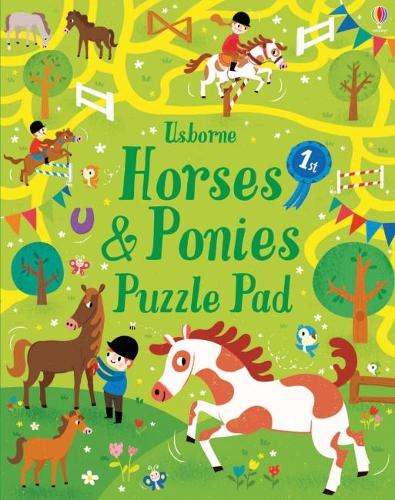 Horses and Ponies Puzzles Pad (Paperback)
