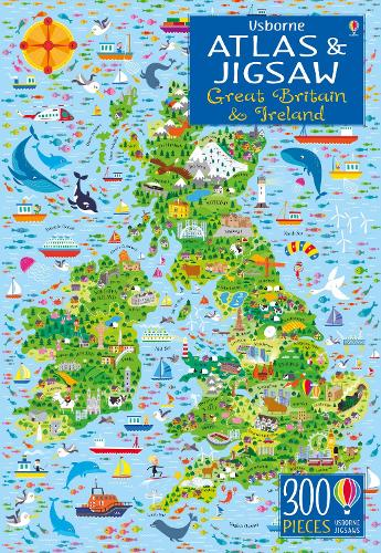 Usborne Atlas and Jigsaw Great Britain and Ireland - Usborne Atlas and Jigsaw