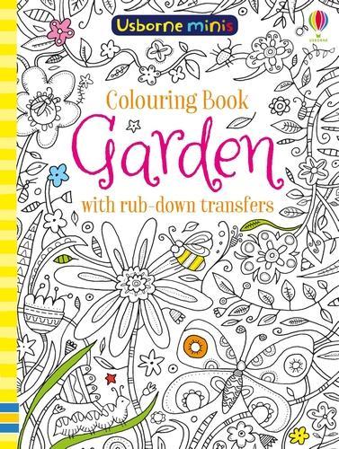 colouring book jungle with rub down transfers usborne mini books paperback - Usborne Coloring Books