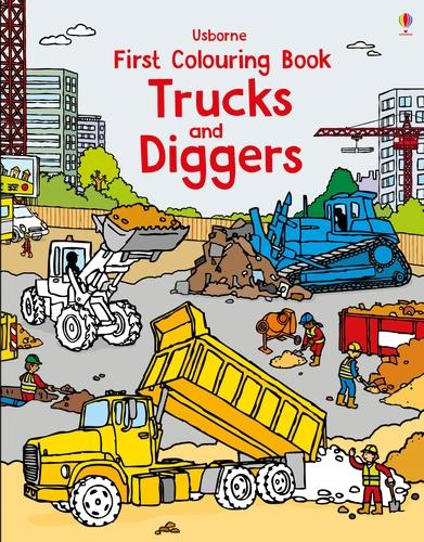 First Colouring Book Trucks and Diggers - First Colouring Books (Paperback)