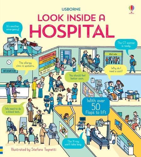 Look Inside a Hospital - Look Inside (Board book)