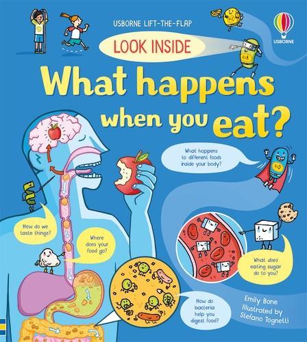Look Inside What Happens When You Eat - Look Inside (Board book)