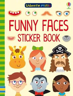 Funny Faces Sticker Book x 5 pack - Usborne Minis (Paperback)