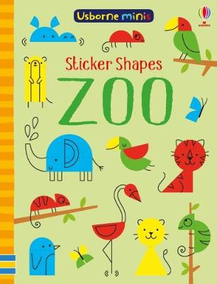 Sticker Shapes Zoo x 5 pack - Usborne Minis (Paperback)
