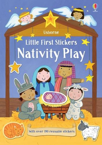 Little First Stickers Nativity Play (Paperback)