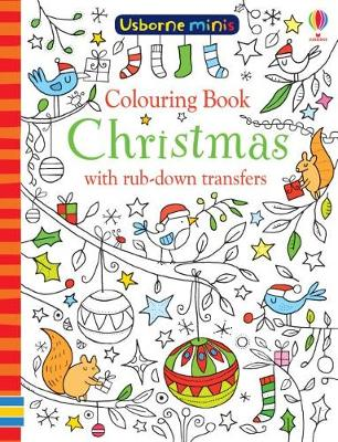 Colouring Book Christmas with Rub-Down Transfers x5 Pack - Usborne Minis (Paperback)