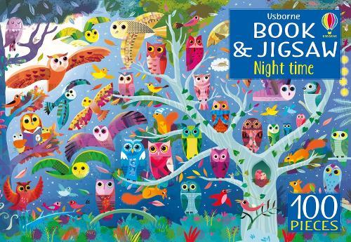 Usborne Book and Jigsaw Night Time - Usborne Book and Jigsaw (Paperback)