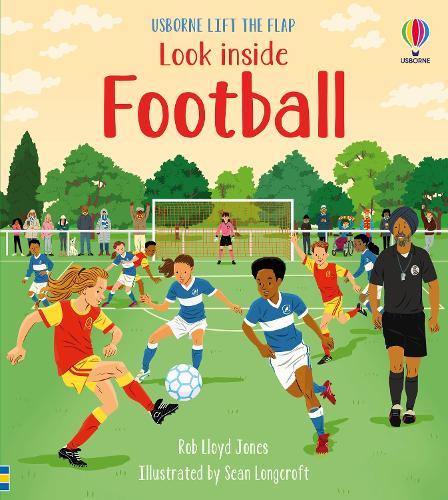 Look Inside Football - Look Inside (Board book)