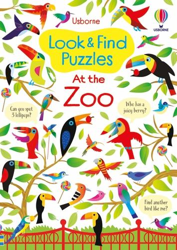 Look and Find Puzzles At the Zoo (Paperback)
