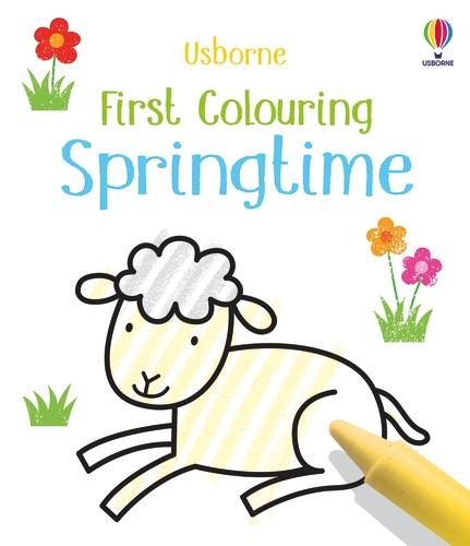 First Colouring Springtime - Little First Colouring (Paperback)