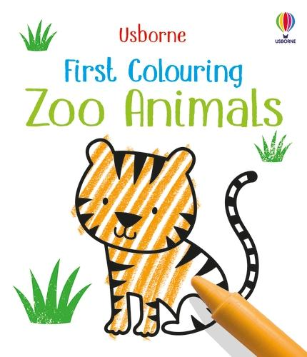 First Colouring Zoo Animals - Little First Colouring (Paperback)
