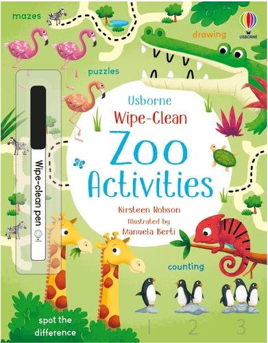 Wipe-Clean Zoo Activities - Wipe-clean Activities (Paperback)