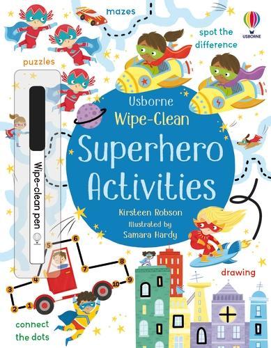 Wipe-Clean Superhero Activities - Wipe-clean Activities (Paperback)