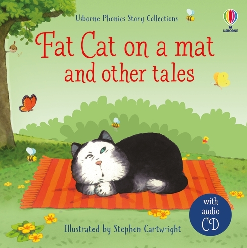 Fat cat on a mat and other tales with CD - Phonics Readers (Hardback)
