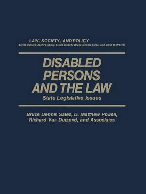 Disabled Persons and the Law: State Legislative Issues (Paperback)