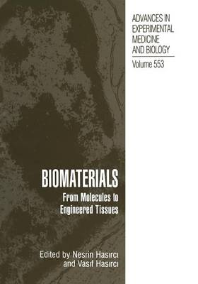 Biomaterials: From Molecules to Engineered Tissue - Advances in Experimental Medicine and Biology 553 (Paperback)