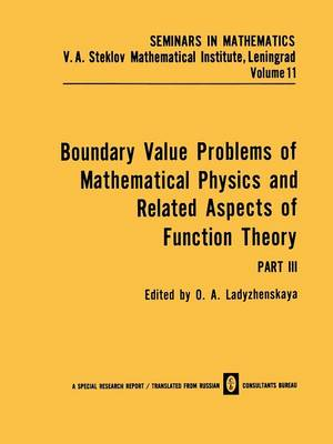 Boundary Value Problems of Mathematical Physics and Related Aspects of Function Theory - Seminars in mathematics (Paperback)