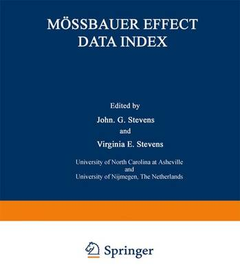 Moessbauer Effect Data Index: Covering the 1976 Literature (Paperback)