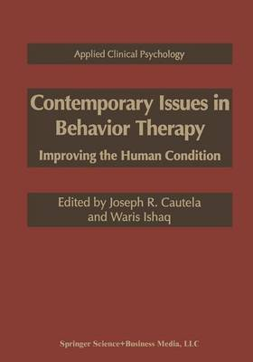 Contemporary Issues in Behavior Therapy: Improving the Human Condition - NATO Science Series B (Paperback)