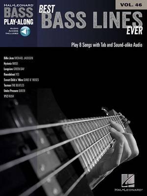 Bass Play-Along Volume 46: Best Bass Lines Ever (Book/Online Audio) (Paperback)