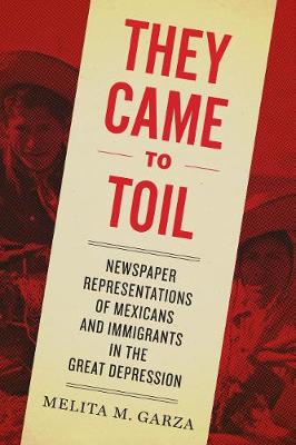 They Came to Toil: Newspaper Representations of Mexicans and Immigrants in the Great Depression (Hardback)