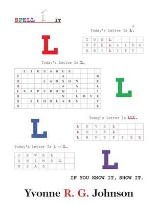 Spell-It: Today's Letter Is L (Paperback)