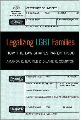 Legalizing LGBT Families: How the Law Shapes Parenthood (Hardback)