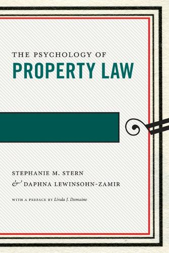 The Psychology of Property Law - Psychology and the Law (Paperback)