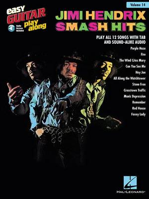 Easy Guitar Play-Along Volume 14: Jimi Hendrix - Smash Hits (Book/Online Audio) (Paperback)